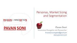 personas market sizing and segmentation