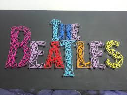 beatles string art i made for a friend who u0027s a bit obsessed