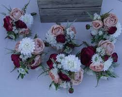 wedding flowers pink wedding bouquets etsy