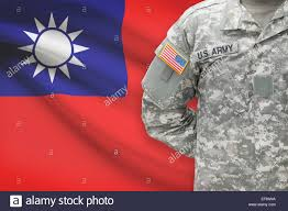 Soldier With Flag American Soldier With Flag On Background Republic Of China