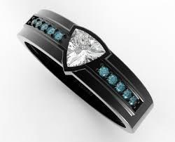 men ring design trillion cut diamond wedding band for a men vidar jewelry