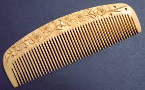 vintage comb japanese traditonal boxwood comb
