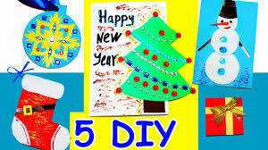 5 diy card ideas easy greeting cards christmas and new year