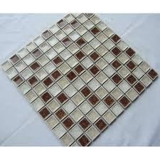 Glass Tile Bathroom Backsplash by Glass Tile With Porcelain Base Bathroom Wall Tiles Ice Cracked