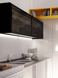 Open Shelves Under Cabinets Cabinets U0026 Storages Beautiful Kitchen Modern Sleek Design Cabinet