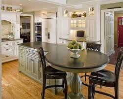 Best Cool Table At End Of Island Images On Pinterest Kitchen - Kitchen island with table attached