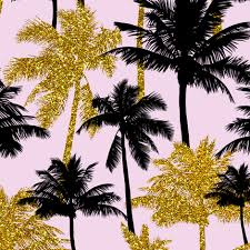gold glitter palm trees light pink medium silhuettes golden