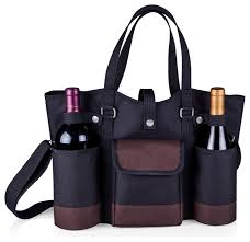 wine picnic baskets wine country tote black with merlot trim modern picnic baskets