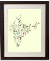 Bhopal India Map by India Typography Map
