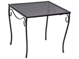 Wrought Iron Mesh Patio Furniture by Woodard Wrought Iron 16 Square Medium End Table 190213