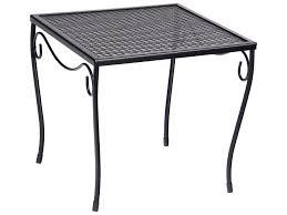 Woodard Iron Patio Furniture - woodard wrought iron 16 square medium end table 190213