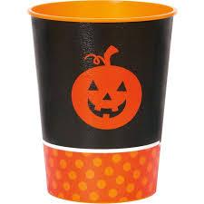 Halloween Cups 16 Oz Little Pumpkin Halloween Plastic Cups 8pk Walmart Com