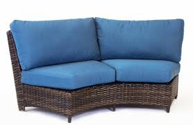 Curved Outdoor Sofa by South Sea Rattan St Tropez Curved Loveseat With Cushion Wayfair