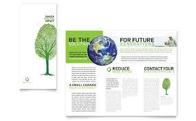 environmental non profit tri fold brochure template word u0026 publisher
