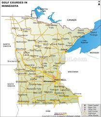 minnesota on map golf courses map