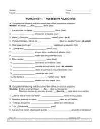 possessive adjectives lesson plans u0026 worksheets reviewed by teachers