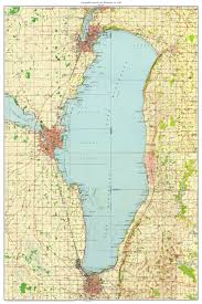 Topographic Map Of Michigan by Lake Winnebago 1955 Old Topographic Map Usgs Custom Composite