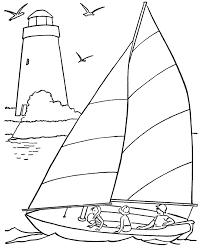 sailing ship coloring transportation pages