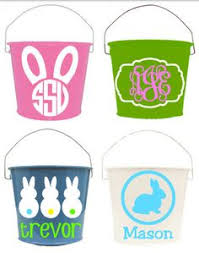 personalized easter buckets these easter baskets jen made using dollar store buckets