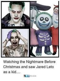 Nightmare Before Christmas Meme - watching the nightmare before christmas and saw jared leto as a