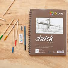 colore sketch pad 9x12 spiral sketchbook perfect art book for