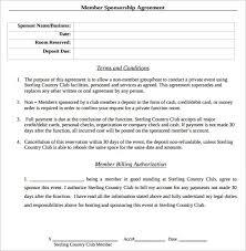 sponsorship agreement sample sponsorship letter and agreement