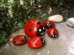 Ladybug Kitchen Decor Painted Rocks For Artistic Yard And Garden Designs 40 Cute