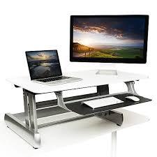 Computer Stand For Desk Inmovement Standard Sit Stand Desk White Imwdeskready01 Staples