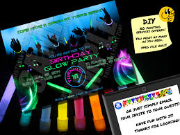 glow in the party supplies glow party invitation printable invite emailable