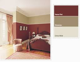 henna red bedroom interiors by color
