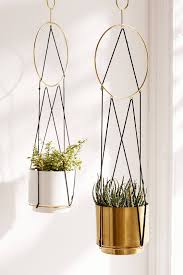 Hanging Planters Indoor by Triangle String Hanging Planter Planters Triangles And Plants