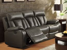 Grey Leather Reclining Sofa by Sofas Center Unique Gray Leather Reclining Sofa Photos