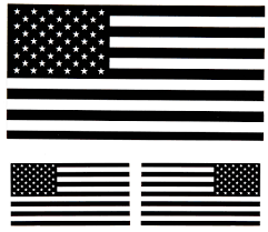 Black White Black Flag Black White Us Flag Stickers Us Flag Stickers Thecheapplace
