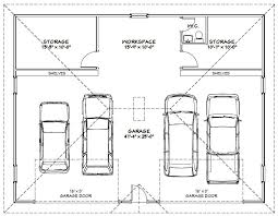 Workshop Garage Plans Two Car Garage With Rear Bay Shop Plan 1200 5 30 U0027 X 40 U0027 By Behm