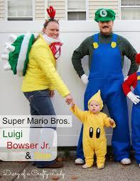Mario Costumes Halloween Diary Crafty Lady Luigi Bowser Jr U0026 Star Super Mario