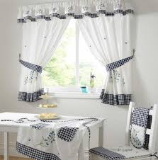 Small Window Curtain Decorating Accessories Stunning Small Dining Room Decoration Using White Blue