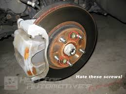 2007 honda accord rotors how to remove the rotor screws from your honda acura s brake