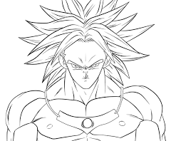 dragon ball coloring pages broly coloring pages dragon ball z kai
