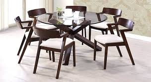 Round Glass Top Dining Table Set Round 6 Seater Dining Tables 6 Seater Round Dining Table Glass Top