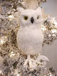size snowy owl ornament decor