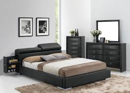 Black And Mirrored Bedroom Furniture Manjot 3pc King Black Bedroom Set 20747ek