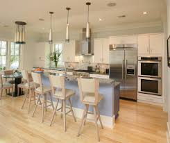 cluster pendant light kitchen transitional with beige bar stool