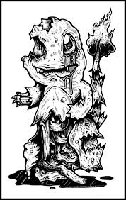 zombie pokemon coloring pages drawn pikachu black and white many interesting cliparts