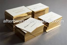 Business Cards With Foil Triple Thick 1050gsm Business Card With Foil Blocking U0026 Gold Edge