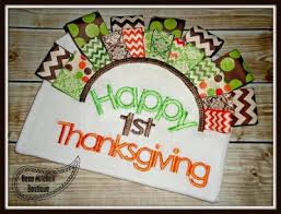 happy 1st thanksgiving girly font beau mitchell boutique