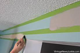 how to paint straight crisp stripes on a wall