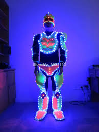 Light Up Costumes Led Robot Suit For Performance Ultraman Glowing Clothes Light Up