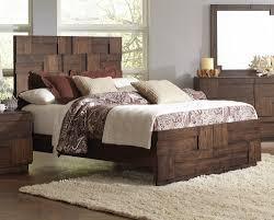 Acacia Bedroom Furniture by Golden Brown Acacia Veneer King Bed By Coaster