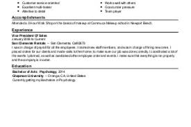 Cosmetic Resume Examples by Cosmetology Educator Resume Example Florida Technical College