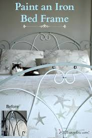 gracefully easy steps in painting an iron bed frame metal beds